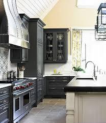 Black Kitchen Designs Photos Charcoal Gray Kitchen Cabinets Design Ideas
