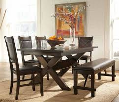 Dining Room Tables Bench Seating Lovely Distribution Dining Set With Bench For Room The Wooden
