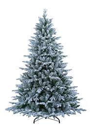 abusa pre lit tree 9 ft flocked snow with