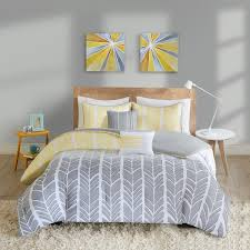 Yellow And Grey Bed Set Intelligent Design Kennedy Yellow Grey Comforter Set Free