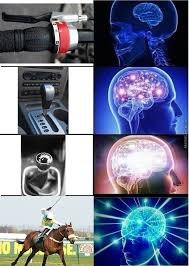 Brain Meme - gear shift expanding brain by auksasful meme center