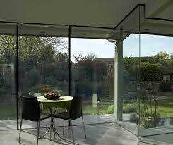 laminated glass panel for partition walls transparent