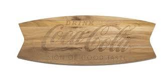 wood board coca cola cutting board arciform wood coke store