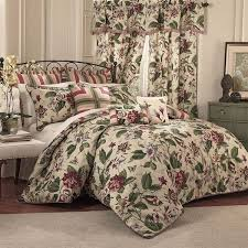 Machine Washable Comforters Luxurious Bold Floral Butterflies Dragonflies Jewel Tones