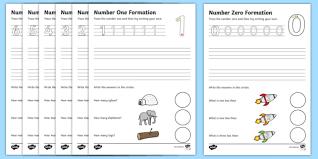number formation worksheets 0 9 handwriting number