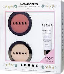 lorac primer light source lorac mod goddess color source light source set