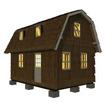 gambrel roof small house plans