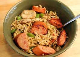 smoked sausage with rice pilaf johnsonville