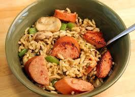 smoked sausage with rice pilaf johnsonville