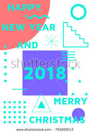 seamless merry pattern festive happy stock vector