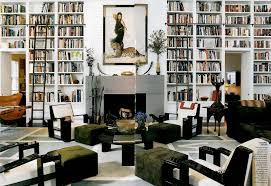 home interior inspiration gigantic book shelves colourful rebel