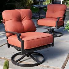 Deep Seating Patio Furniture Sets - belham living san miguel cast aluminum deep seat swivel rocker
