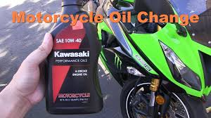 changing the oil u0026 filter of a motorcycle kawasaki ninja 636