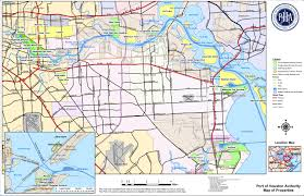 Map Of Long Beach Map Com Port Port Of Houston Map Travel Maps And Major Tourist