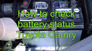 battery for toyota camry 2000 how to check battery status toyota camry