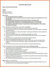birth plan worksheet bio letter sample