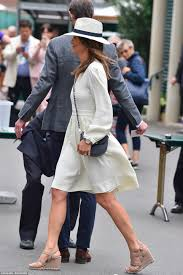 pippa middleton makes third visit to wimbledon daily mail online