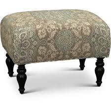 Floral Ottoman Classic And Blue Floral Ottoman Gotham Rc Willey