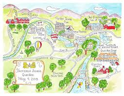 Vermont State Parks Map Custom Wedding Map Hand Drawn Wedding Map Watercolor Map Of