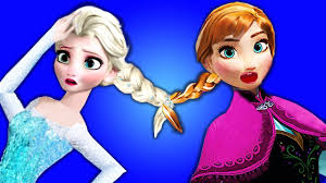 frozen elsa u0026 anna hair stuck spiderman u0026 superheroes