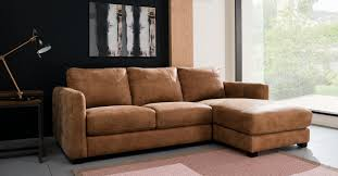 Leather Chaise Sofa 100 Real Leather Rhf 3 Seater Chaise Sofa