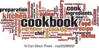 livre technique cuisine livre cuisine converted eps mot concept illustration