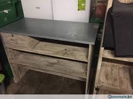 comptoir de bureau bureau comptoir bois pin vieilli a vendre 2ememain be