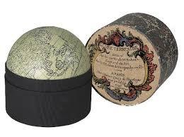 Small Desk Globe Ivory Globe In Box