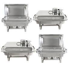 Stainless Steel Buffet Trays by 4 Pack Premier Chafers Stainless Steel Chafing Dish 8 Qt Full