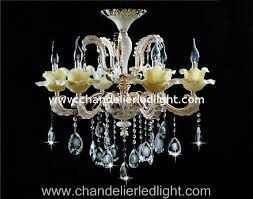 Chandelier Led Lights 6 Bulbs Traditional Crystal Chandelier Led Lamp With White Jade