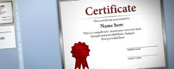 free certificate template for powerpoint 2010 u0026 2013