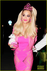 rita ora looks gets all dolled up as barbie for halloween photo
