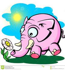 elephant flower drawing vector of a giddy cartoon elephant holding