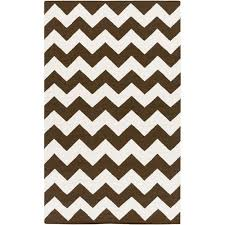 10 Ft Rug York Phoebe Brown And White Rectangular 8 Ft X 10 Ft Rug In