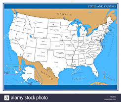 Map Of The United States Capitals by United States Map Alaska And Hawaii Stock Photos U0026 United States