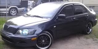 silver mitsubishi lancer black rims mitsubishi lancer view all mitsubishi lancer at cardomain