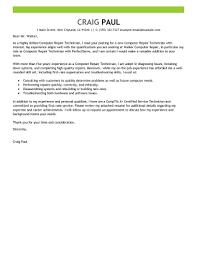 Pc Technician Resume Sample Cover Letter For Pc Technician Shishita World Com