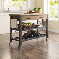 kitchen trendy kitchen island cart industrial small with two