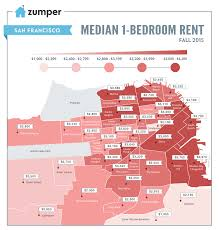 Map Of San Diego Neighborhoods by San Francisco Rent Prices Hit New Record This August The Zumper Blog