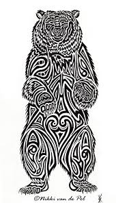 fantastic tribal bear tattoo design in 2017 real photo pictures
