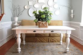 Farmhouse Dining Rooms Farmhouse Table With Bench Farmhouse Dining Table Legs White Round
