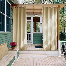 amazon com outdoor decor gazebo outdoor grommet top curtain