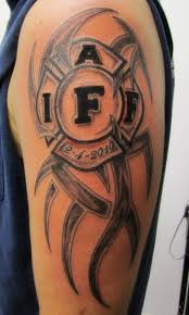 15 tribal firefighter tattoos