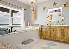 Built In Bathroom Vanity Bathroom Ideas Rustic Beach Themed Bathroom With Built In Bathtub
