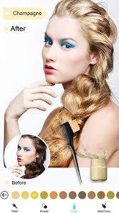 hair and makeup apps hair color dye switch hairstyles wig photo makeup app revisión
