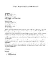 Job Resume Cover Letter Sample Receptionist Cover Letter Example Http Jobresumesample Com 456