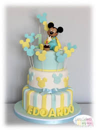 baby mickey 1st birthday baby mickey 1st birthday cake cake by vicious delicious by