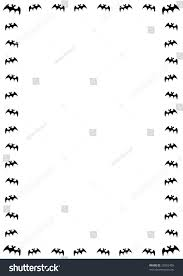 free halloween background border images halloween border black bats on white stock illustration 23382403