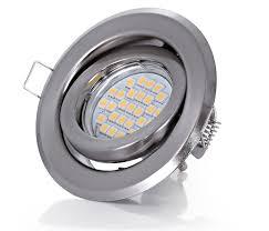 Esszimmer Lampe Schwenkbar Einbauspot Gu10 Led 5w 7w Warmweiß Einbaustrahler Set Einbaurahmen
