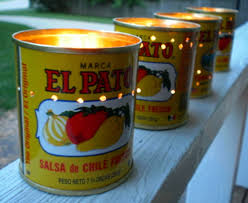 halloween tin cans halloween decorations candle votives el pato mexican tin cans